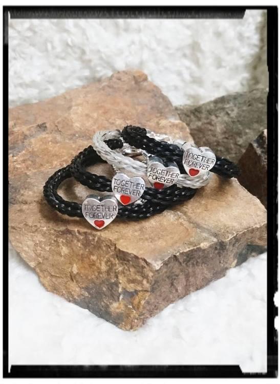 Flera armband, Exklusiv, med rondellen Togheter forever.
