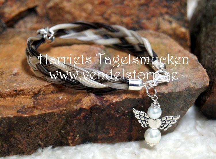 Ängel med silver eller gulddetaljer, valfri färg på pärlor