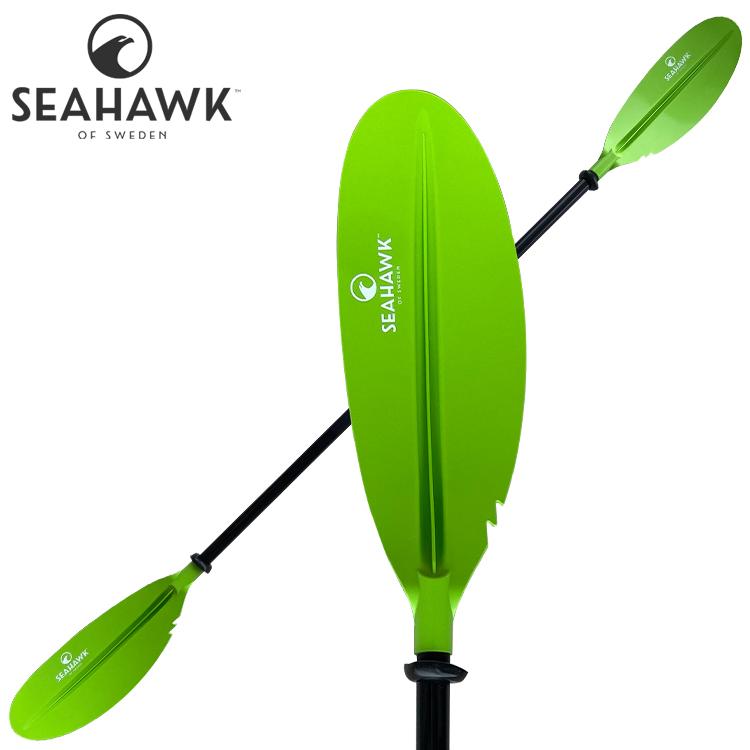 Seahawk Tvådelad paddel i aluminium - Avrinningstappar