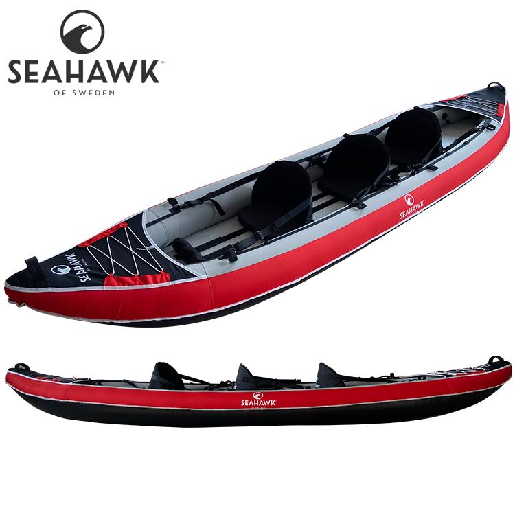 Seahawk Aero K2/K3 - Uppblåsbar kajak 2-3 personer - Paket