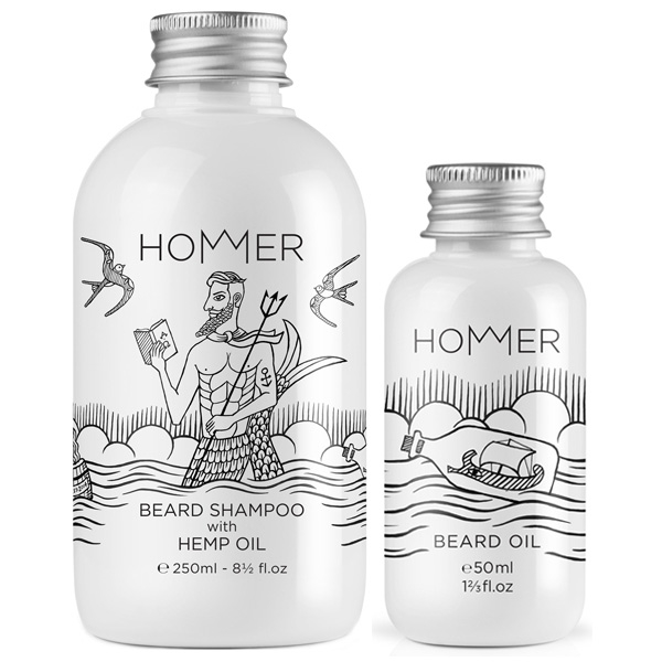 Hommer Beard Set (Shampoo & Oil) HOME ISLAND