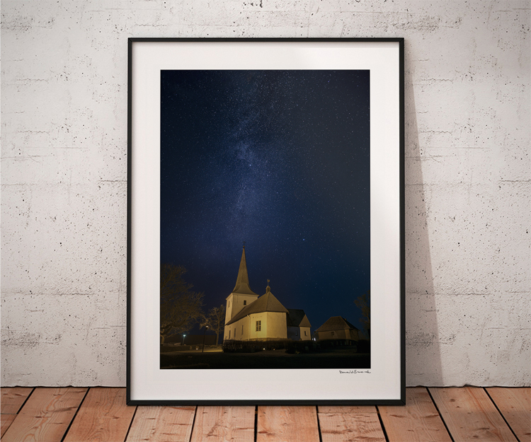 Vintergatan Rackeby kyrka