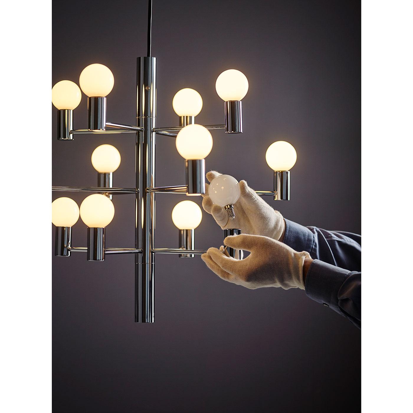 Herstal Manola 12 Dimbar LED Ljuskrona Svart