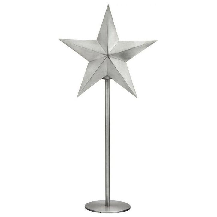 PR Home Nordic Star On Base Silver Höjd 63cm
