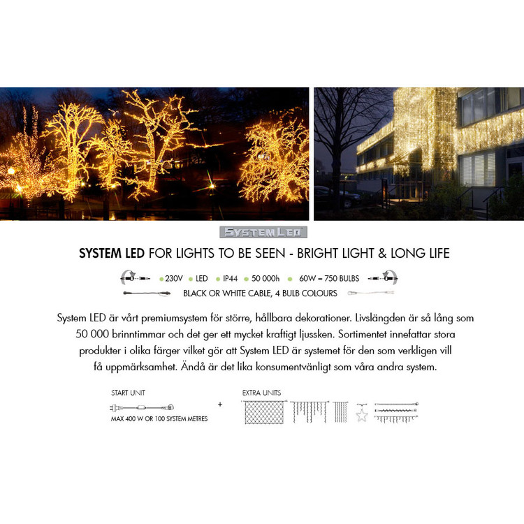 Ljusgardin 1x2m Extra System LED 465-56