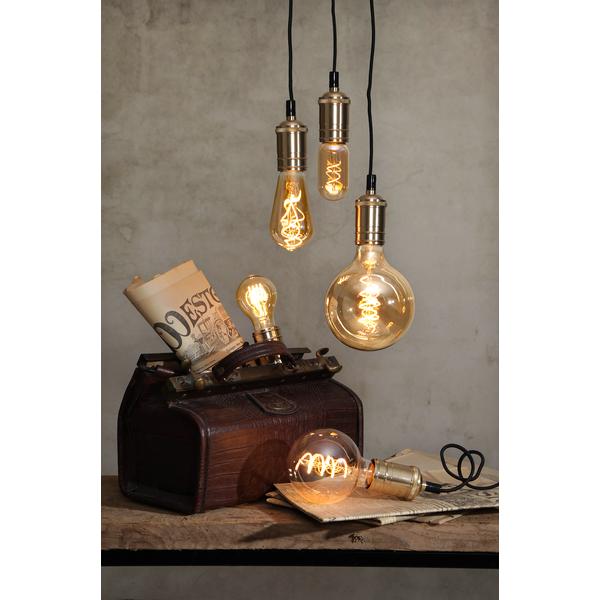 LED-Lampa E27 G125 Flexifilament 354-42