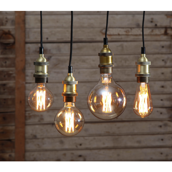 LED-Lampa E27 G125 Vintage GOLD 354-52