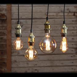 LED-Lampa E27 G125 Vintage Gold 240lm 354-52