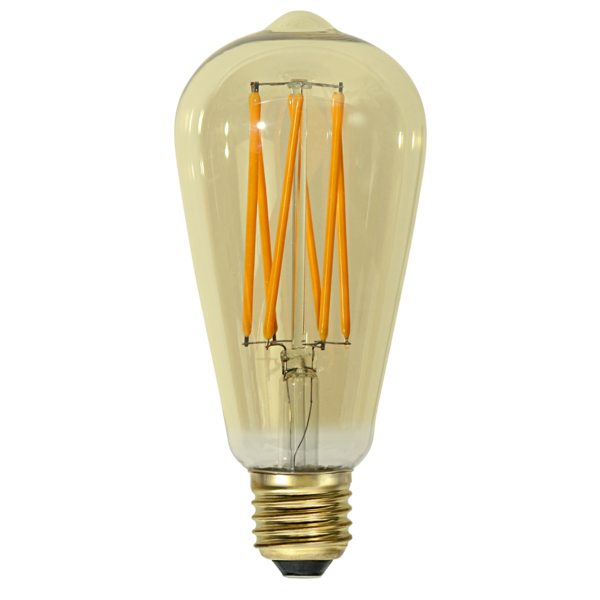 LED-Lampa E27 ST64 Vintage GOLD 354-70
