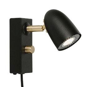 Belid Radiell V5812 Vägglampa LED Svart struktur