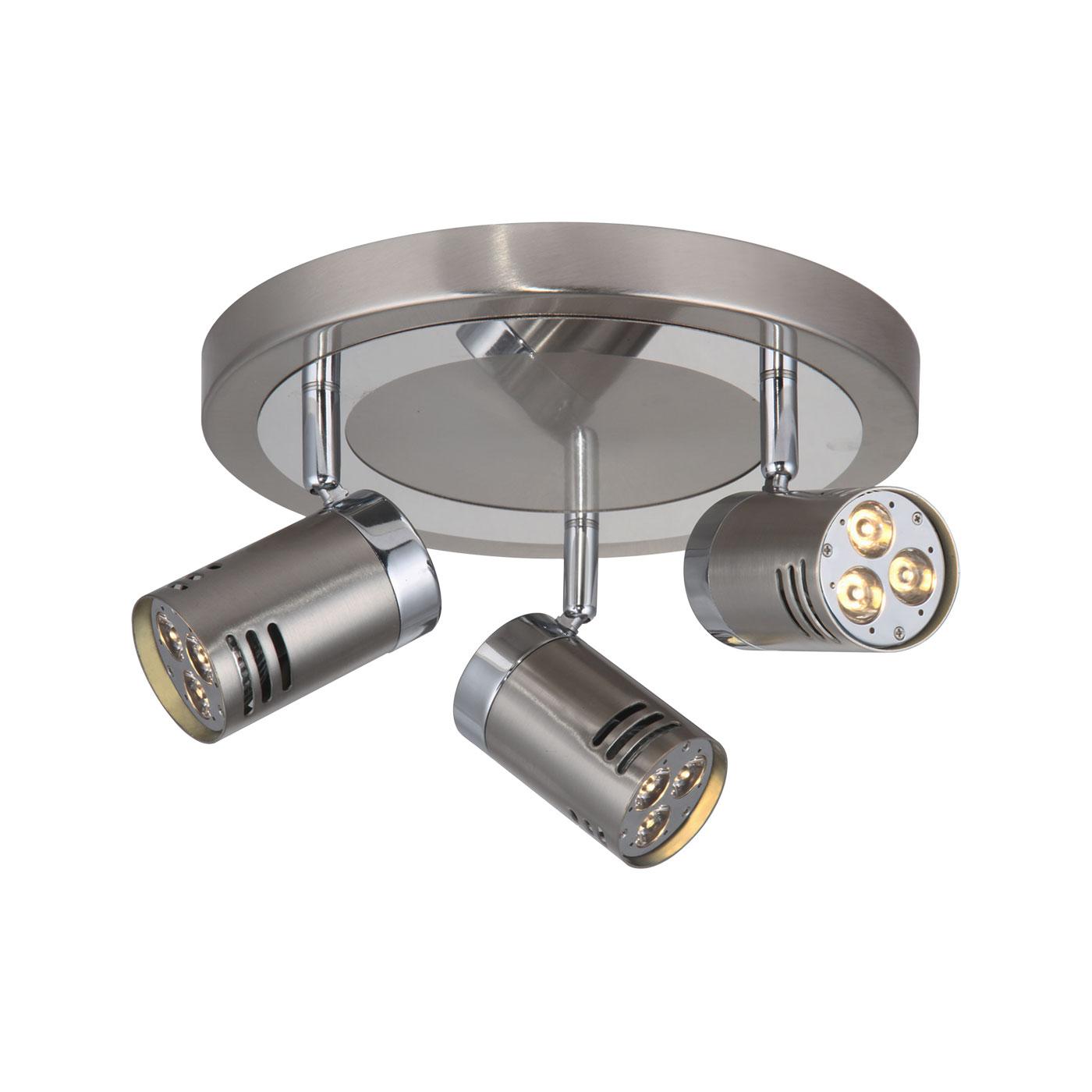 Scan Lamps Pipe Spotlights LED Stål-krom