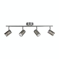 Scan Lamps Pipe 4L Spotlights LED Stål-krom