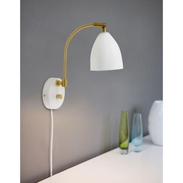 Belid Delux V5076 Vägglampa LED Vit/mässing