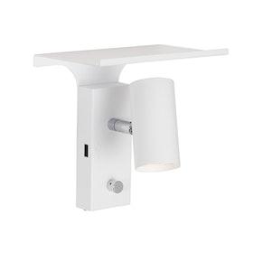 Belid Tyson V5078 Vägglampa LED + USB Mattvit