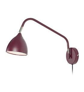 Markslöjd Valencia Vägglampa Burgundy