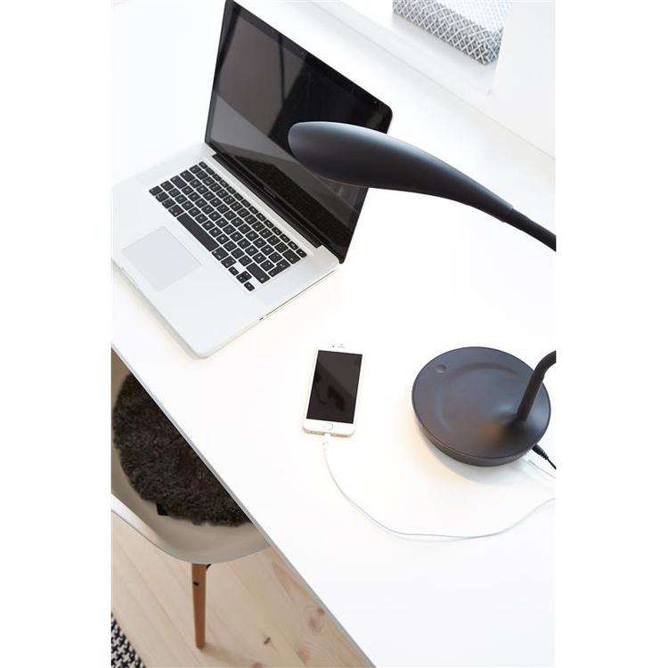 Markslöjd Swan USB Bordslampa LED Vit