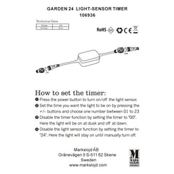 Markslöjd Garden 24 Ljussensor/Timer