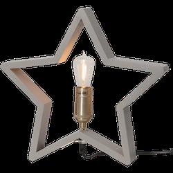 Startrading Stjärna Lysekil beige Trä Höjd 29 cm