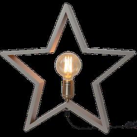 Startrading Stjärna Lysekil beige Trä Höjd 48 cm