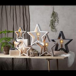 Startrading Stjärna Lysekil Grå Trä Höjd 29 cm