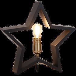 Startrading Stjärna Lysekil svart Trä Höjd 30 cm