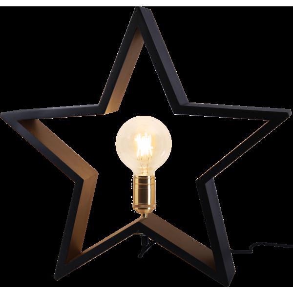 Startrading Stjärna Lysekil svart Trä Höjd 48 cm
