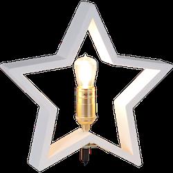 Startrading Stjärna Lysekil Vit Trä Höjd 30 cm