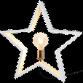 Startrading Stjärna Lysekil Vit Trä Höjd 48 cm