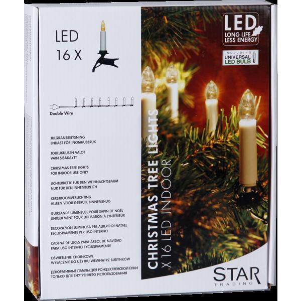 StarTrading Julgransbelysning Inomhus LED 16 ST