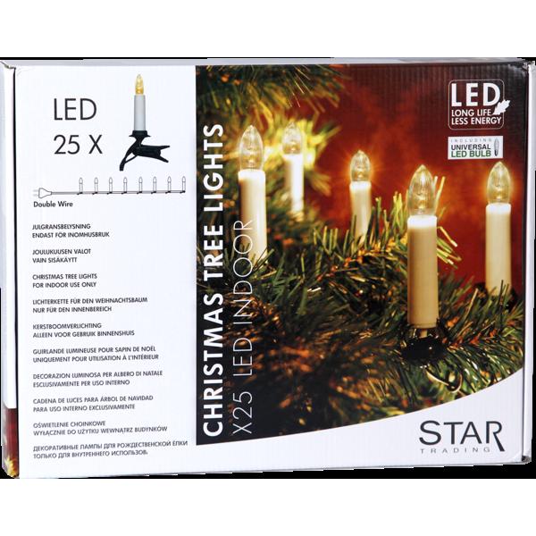 StarTrading Julgransbelysning Inomhus LED 25 ST