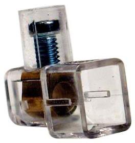 Kopplingsklämma 2,5 Transparent 100st