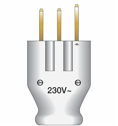 Stickpropp för spis 230V/25A vit