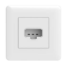 Exxact lamputtag 1-vägs DCL vägg inf vit