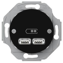 Renova USB laddstation 2,1A Svart