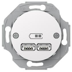 Renova USB laddstation 2,1A Vit