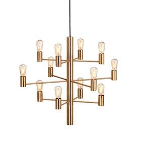 Herstal Manola 12 Dimbar LED Ljuskrona Satin Brass Matt