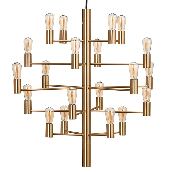 Herstal Manola 20 Dimbar LED Ljuskrona Satin Brass Matt