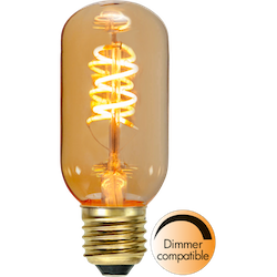 LED-Lampa E27 T45 Decoled Spiral Amber 90lm 354-45-1