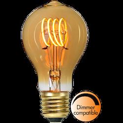 LED-Lampa E27 TA60 Decoled Spiral Amber 80lm 354-44-1