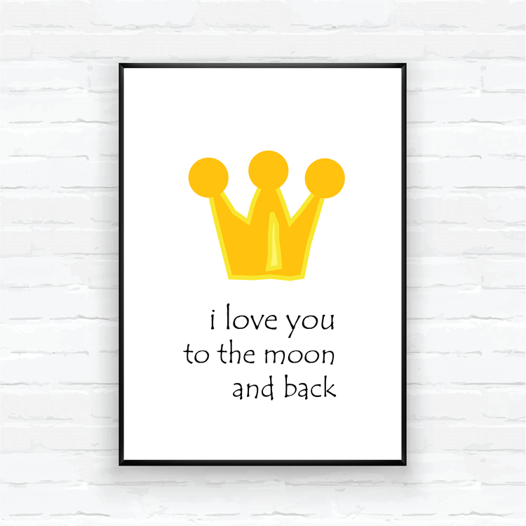 "Children poster-""LOVE YOU TO THE MOON AND BACK"""