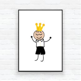 "Barntavla/poster""Prins Edvin"""