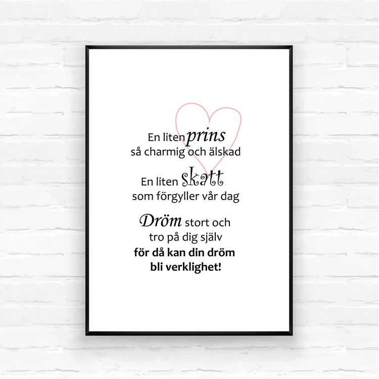 "Children poster-""A LITTLE PRINCE"""