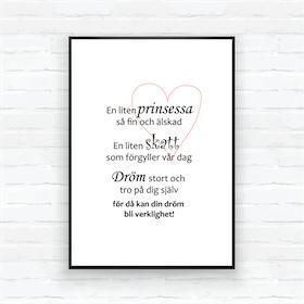 """Barntavla/poster-"""" En liten prinsessa.."""""""