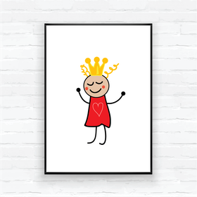"Barntavla/poster-""Prinsessan Sigrid"""