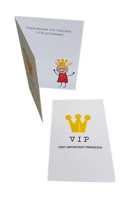 Welcome to the world card- Princess