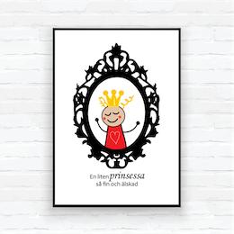 """Children poster- """"Mirror Princess Sigrid"""""""