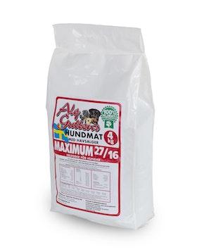 4 kg MAXIMUM 27/16 för aktiva hundar och hundar med högre näringsbehov