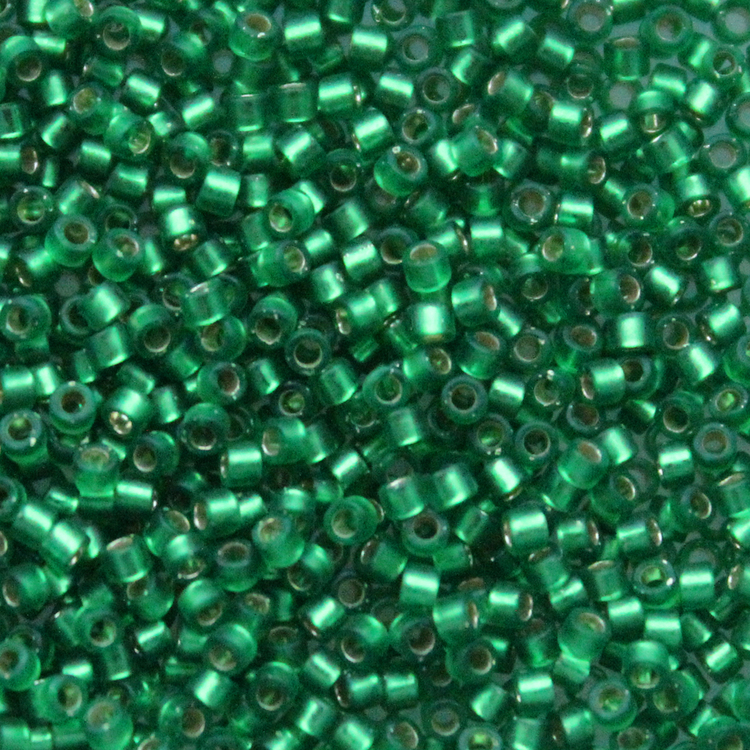Dyed Semi-matte Silverlined Green	DB-0688 Delicas 11/0 5g