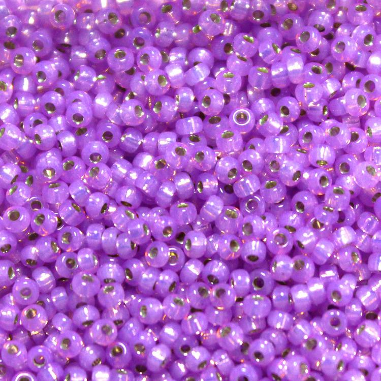 Dyed Lilac Silverlined Alabaster 11-0574 Miyuki 11/0 10g