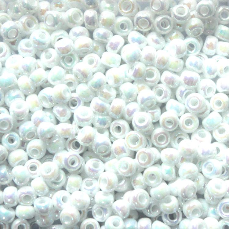 White Pearl AB 8-0471 Miyuki 8/0 10g